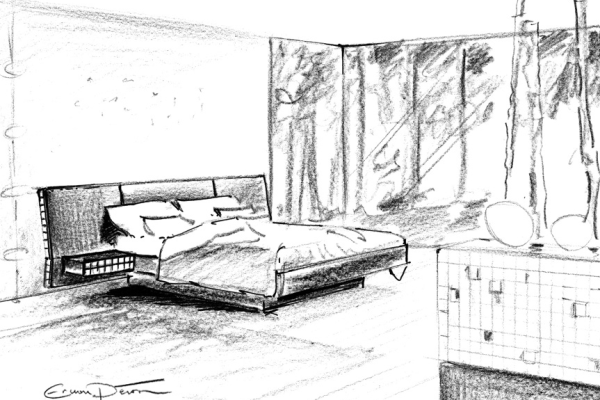 Dessin chambre EKO, signé Erwan Peron 2011