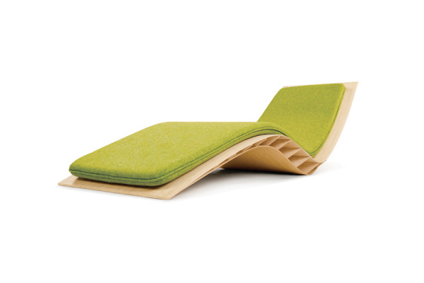 Chaise longue Bee, coussin granny