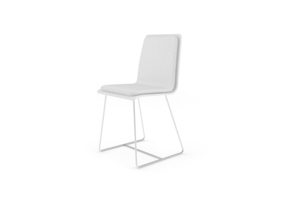 Chaise Bee outdoor PMMA blanc, coussin blanc