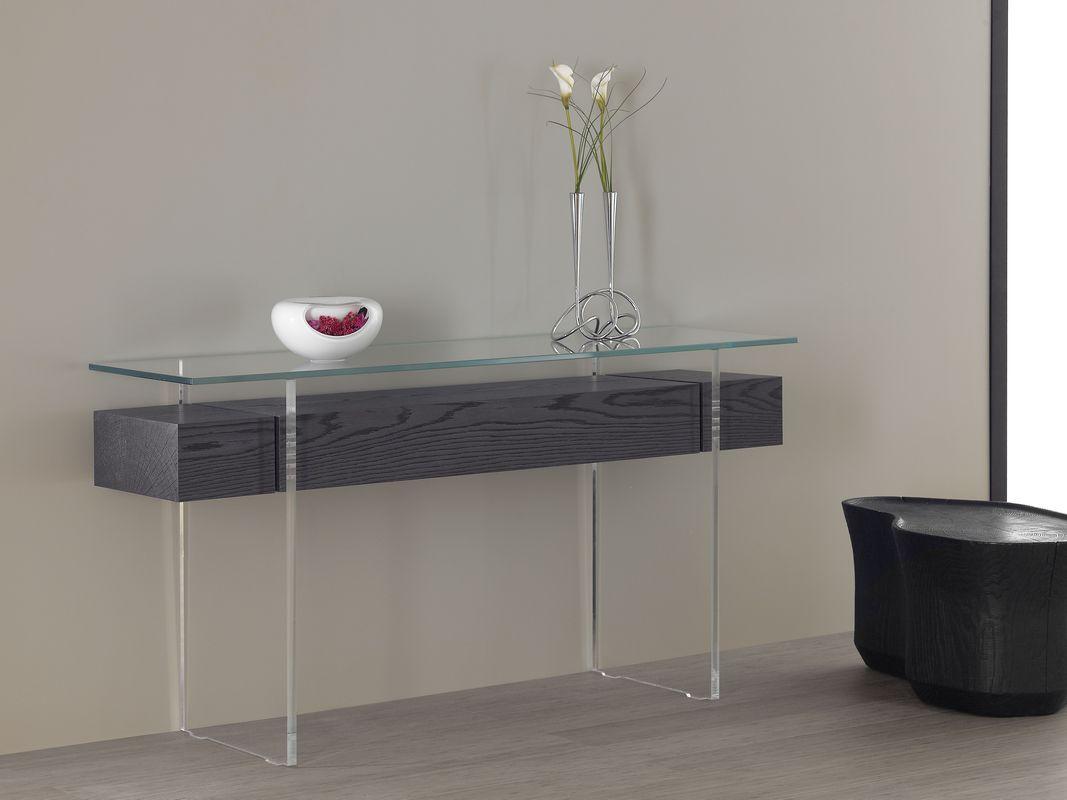 console-décoration-bois-extremité-bouleau-tiroir