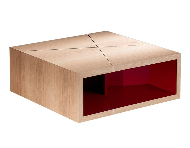 Table basse design pour le salon 4 caissons d composables - Table salon modulable hauteur ...