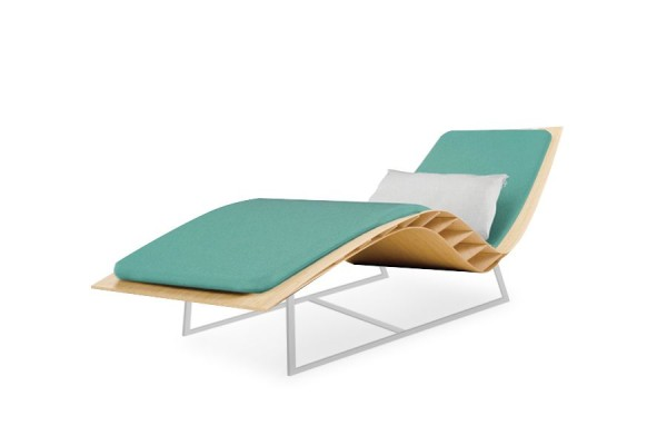Chaise longue Bee outdoor, matelas lagon