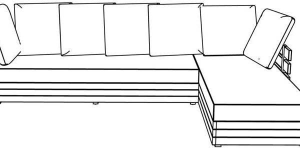 Canapé d'angle droit côté droit