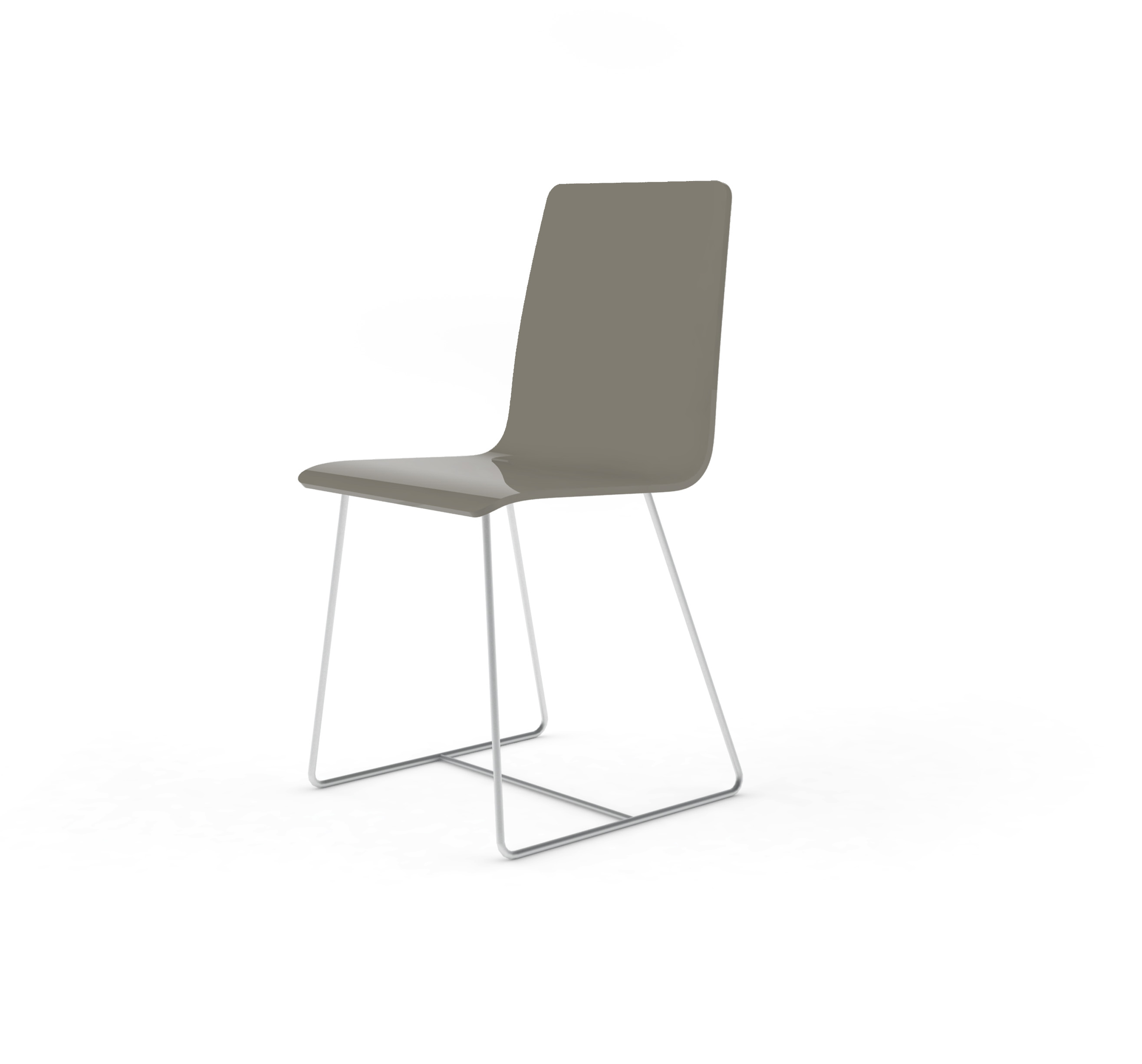 Chaise Bee outdoor PMMA gris perlé